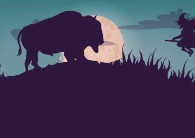 Halloween avec les bisons de la Margeride